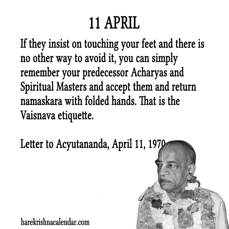 Prabhupada Quotes For The Month of April 11