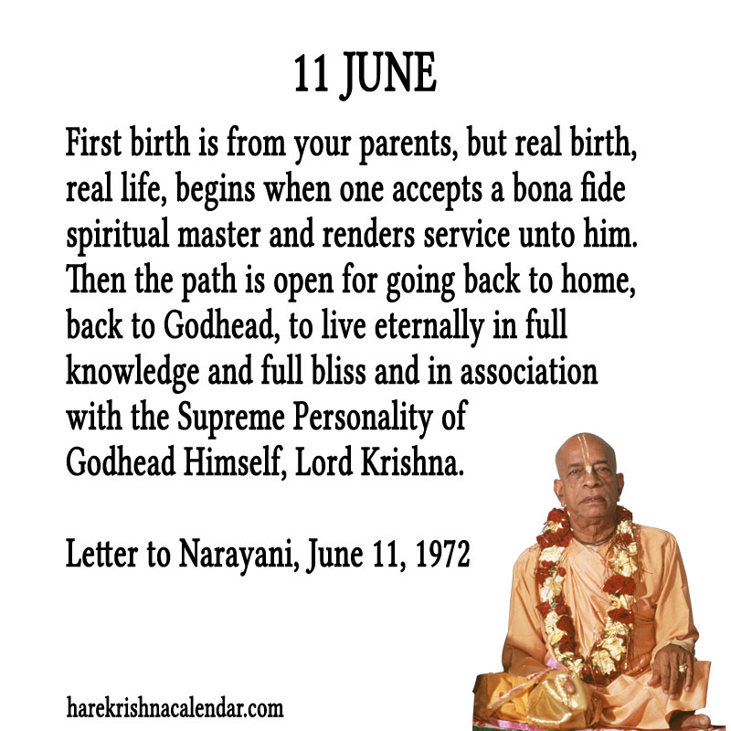 Prabhupada Quotes For The Month of June 11