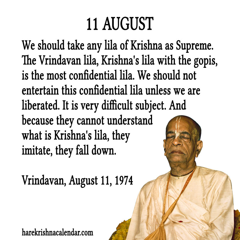 Prabhupada Quotes For The Month of August 11