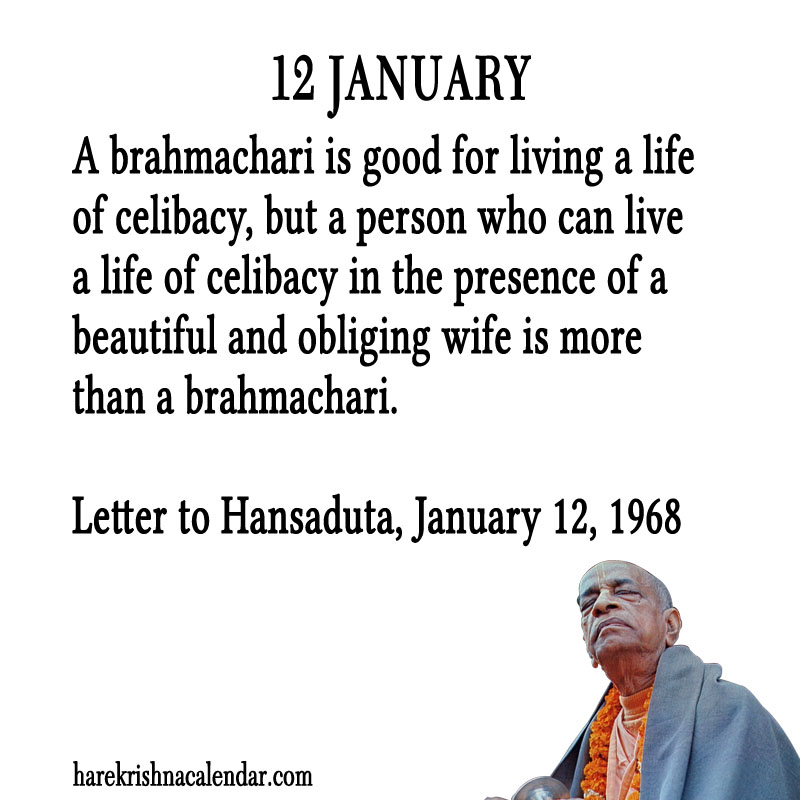 Prabhupada Quotes For The Month of January 12