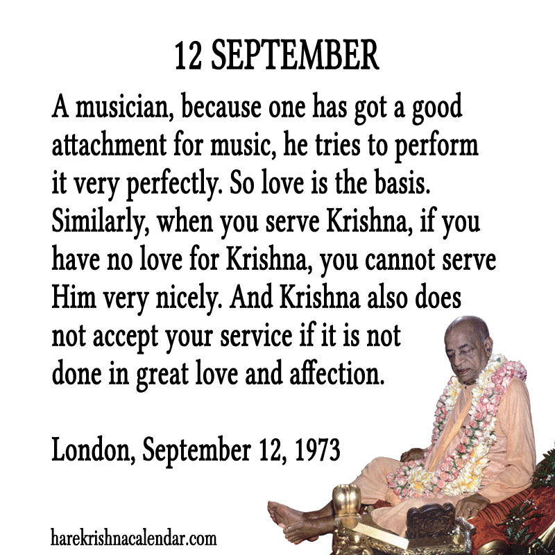 Prabhupada Quotes For The Month of September 12