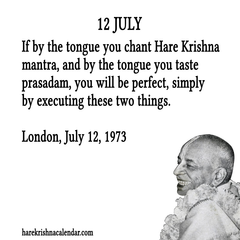 Prabhupada Quotes For The Month of July 12