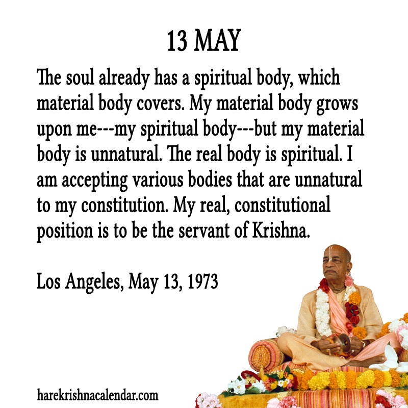 Prabhupada Quotes For The Month of May 13