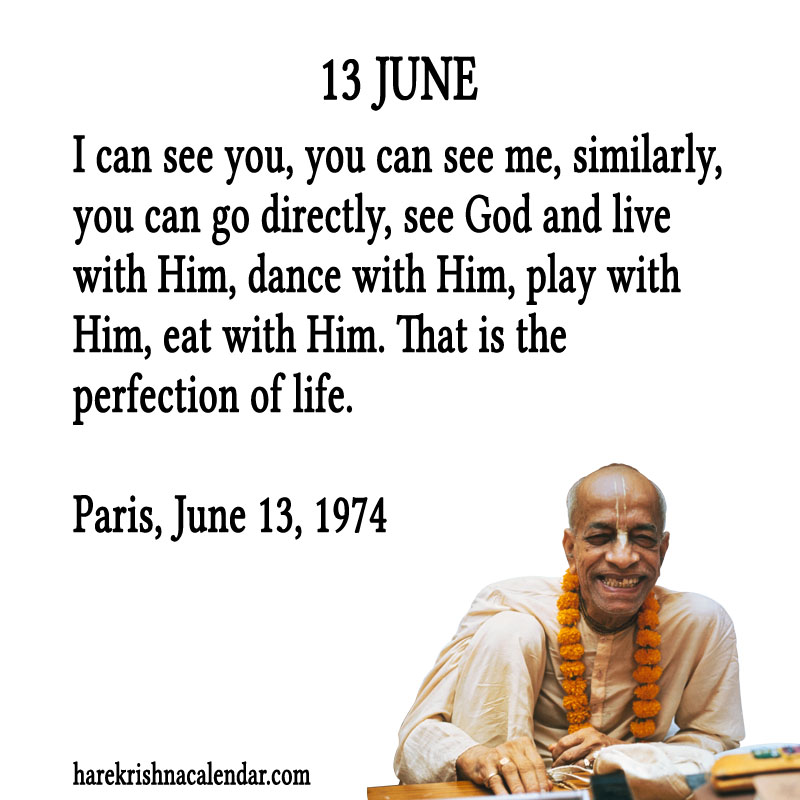 Prabhupada Quotes For The Month of June 13