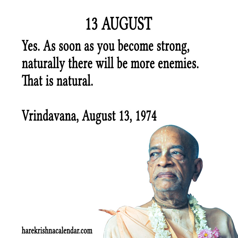 Prabhupada Quotes For The Month of August 13
