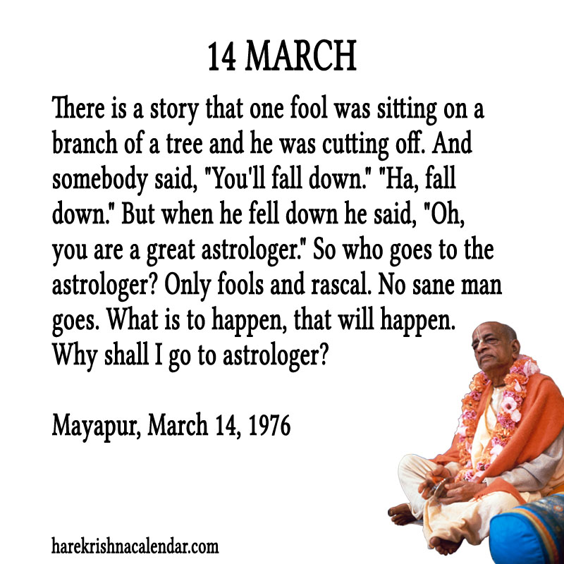 Prabhupada Quotes For The Month of March 14