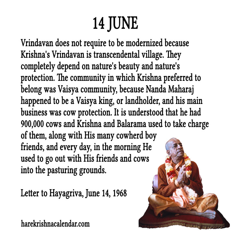 Prabhupada Quotes For The Month of June 14