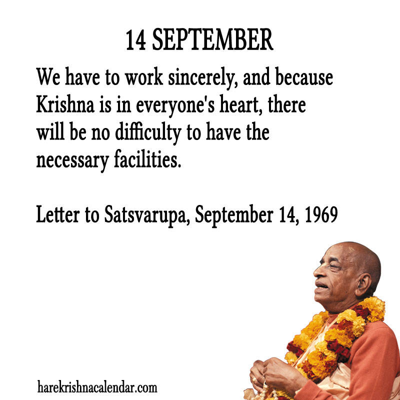 Prabhupada Quotes For The Month of September 14