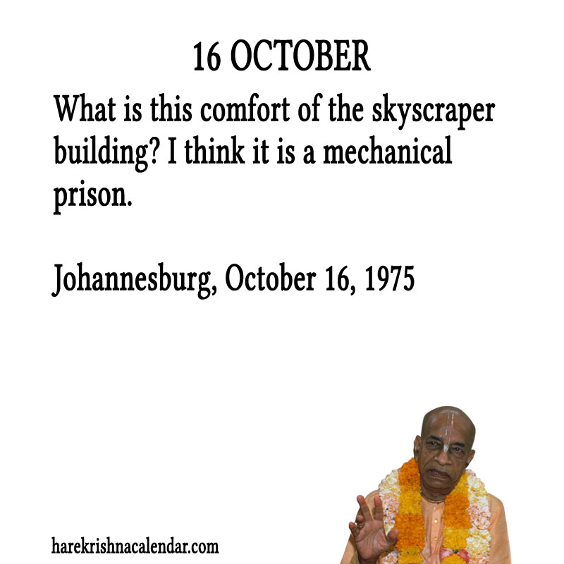 Prabhupada Quotes For The Month of October 16