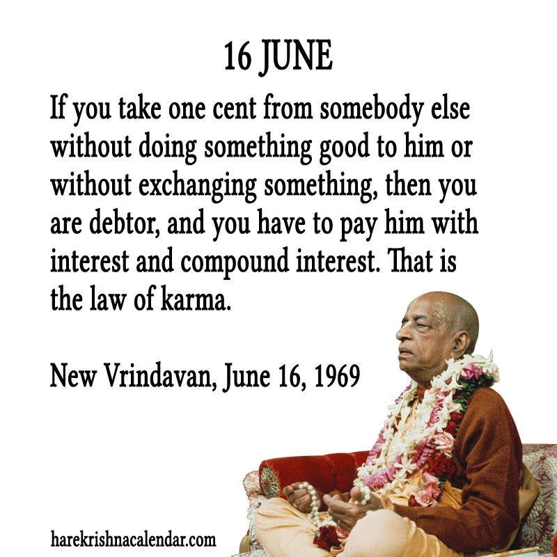 Prabhupada Quotes For The Month of June 16