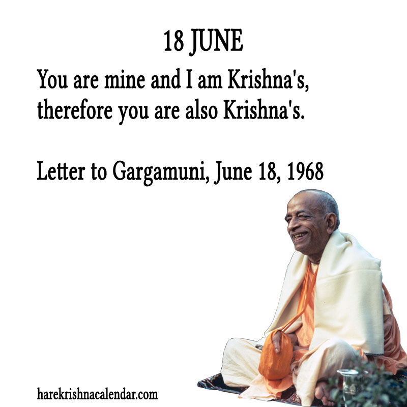 Prabhupada Quotes For The Month of June 18