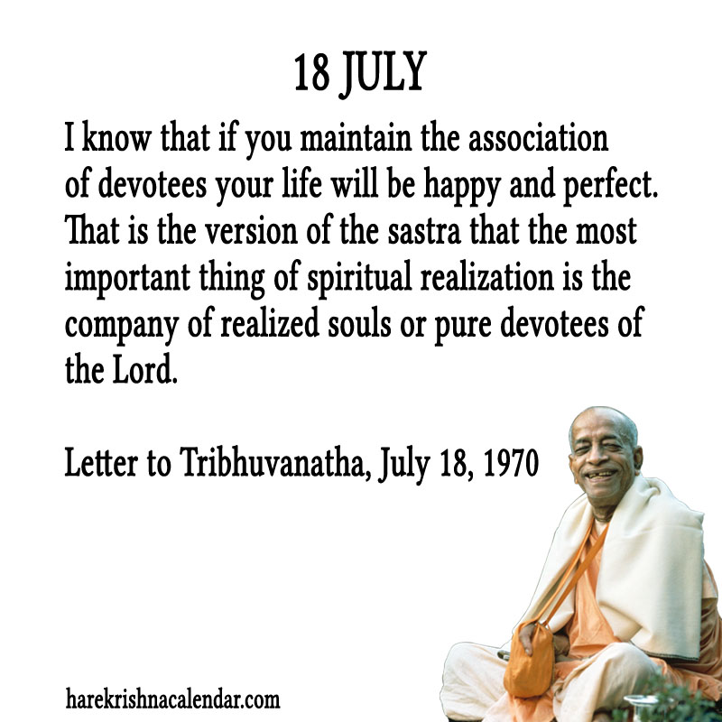 Prabhupada Quotes For The Month of July 18