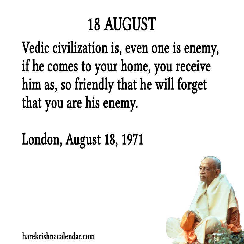 Prabhupada Quotes For The Month of August 18
