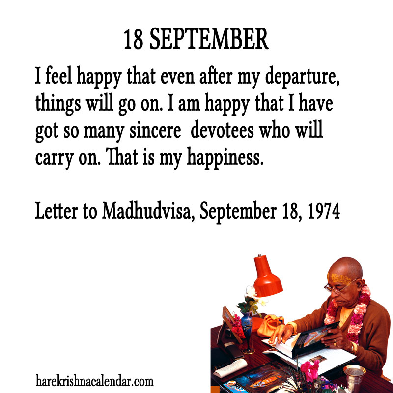 Prabhupada Quotes For The Month of September 18