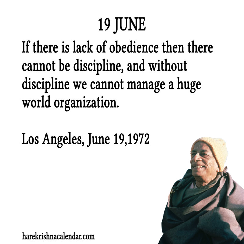 Prabhupada Quotes For The Month of June 19