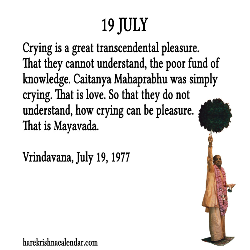 Prabhupada Quotes For The Month of July 19