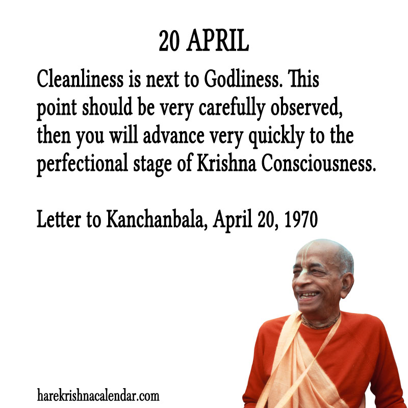 Prabhupada Quotes For The Month of April 20