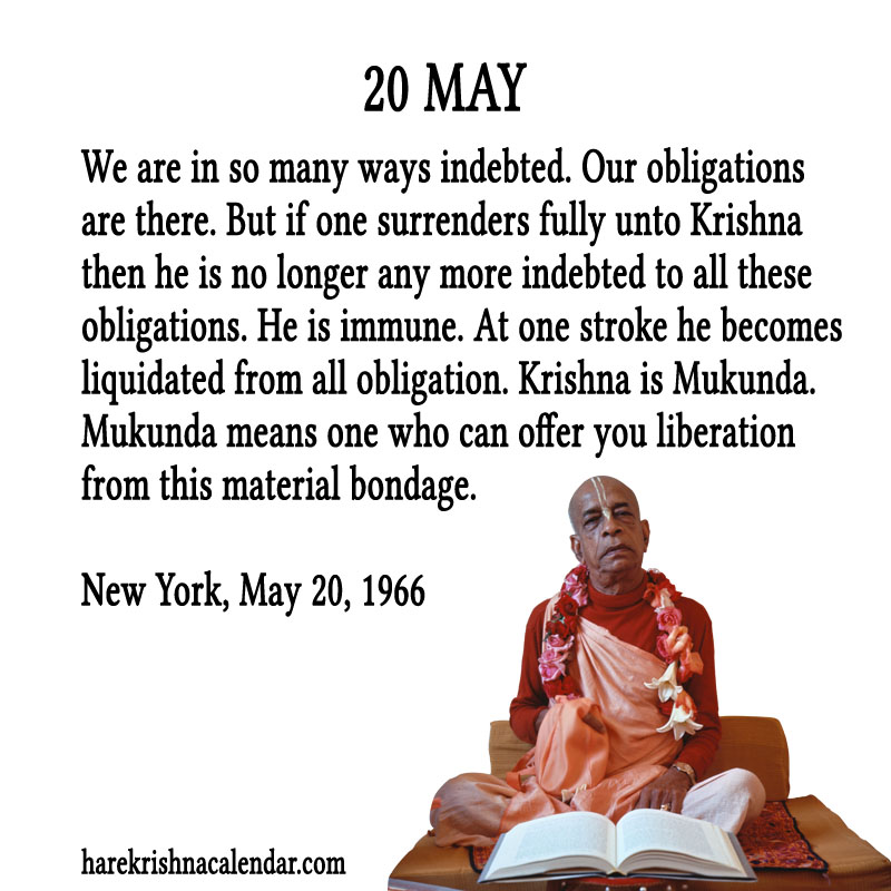 Prabhupada Quotes For The Month of May 20