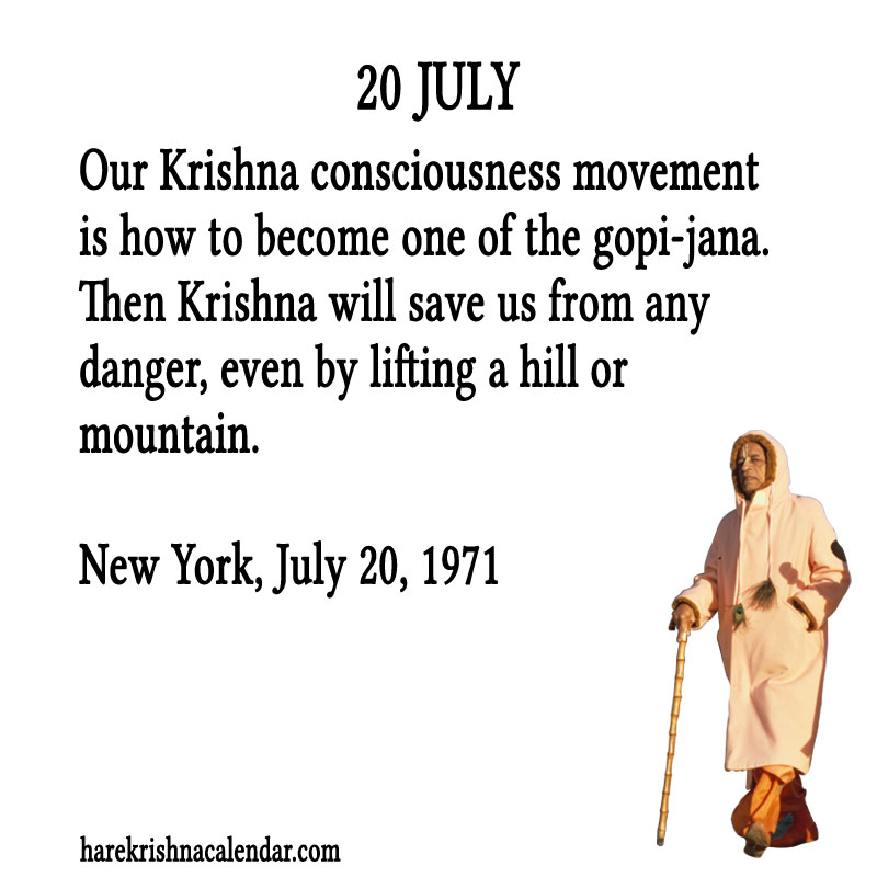 Prabhupada Quotes For The Month of July 20
