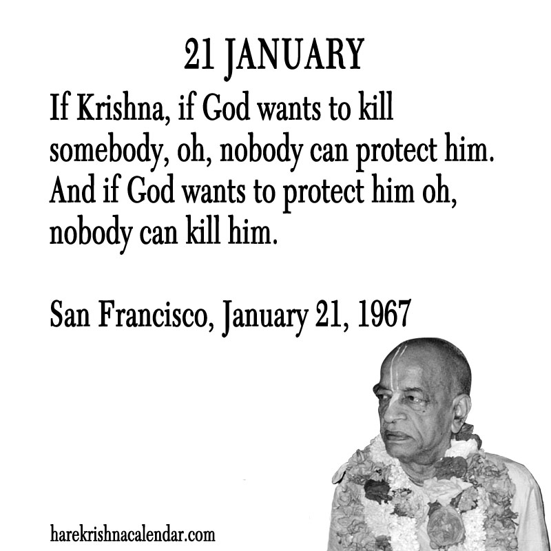 Prabhupada Quotes For The Month of January 21
