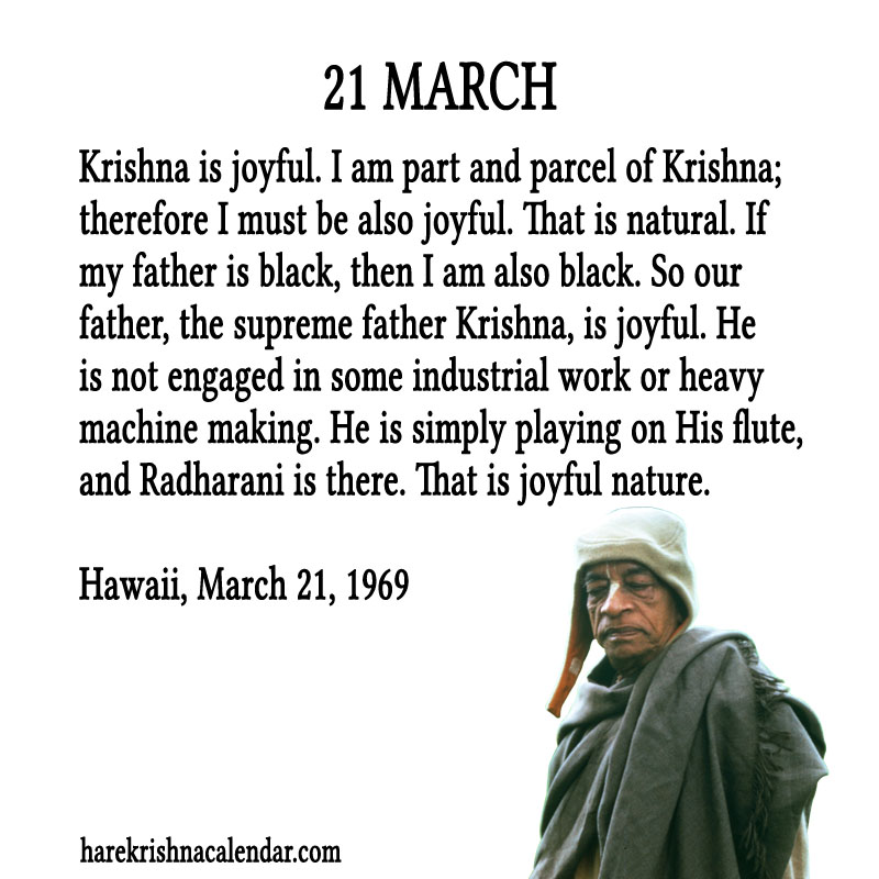 Prabhupada Quotes For The Month of March 21