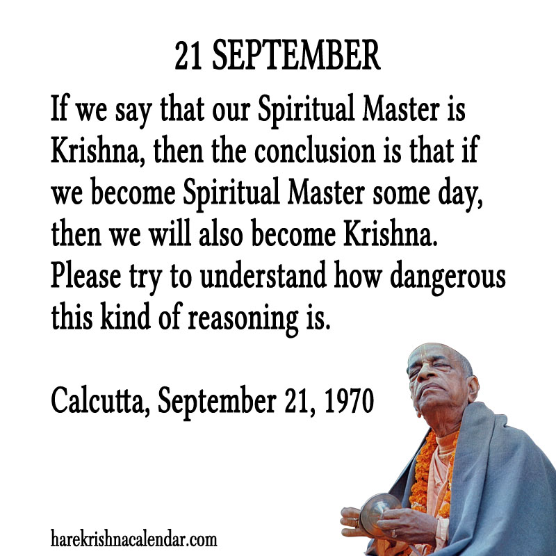 Prabhupada Quotes For The Month of September 21