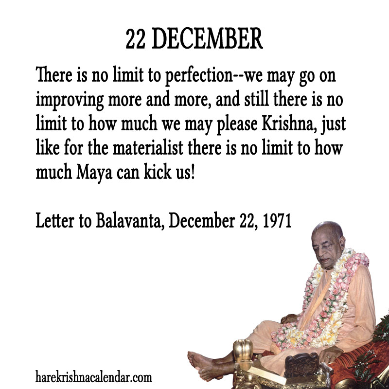 Prabhupada Quotes For The Month of December 22