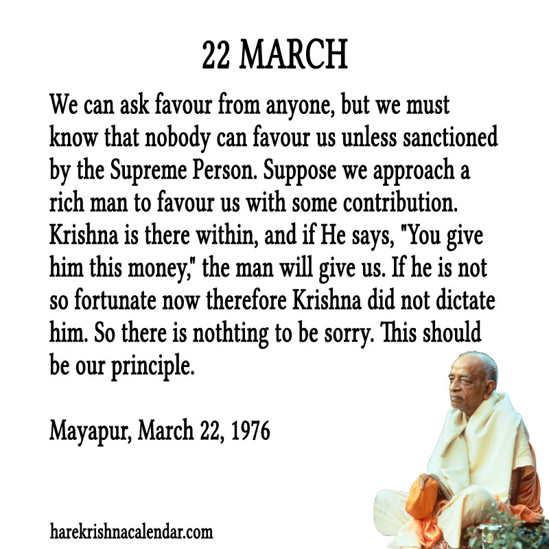 Prabhupada Quotes For The Month of March 22