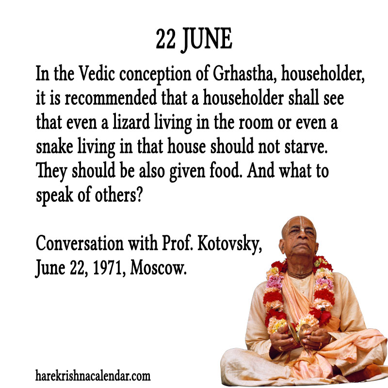 Prabhupada Quotes For The Month of June 22