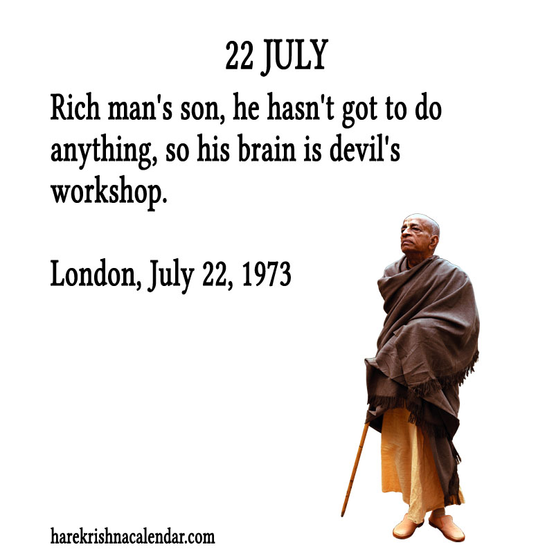 Prabhupada Quotes For The Month of July 22