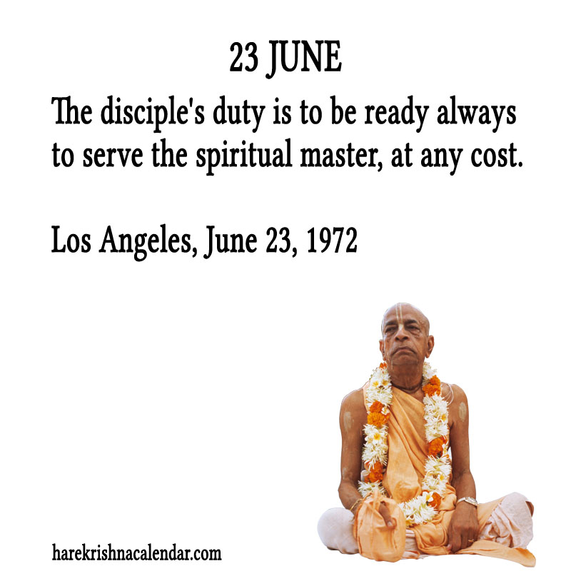 Prabhupada Quotes For The Month of June 23