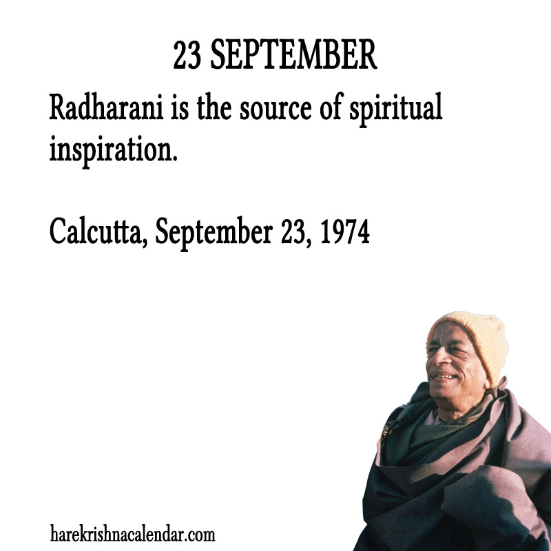 Prabhupada Quotes For The Month of September 23