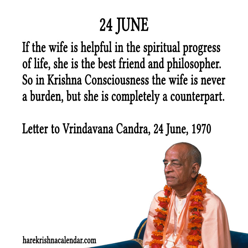 Prabhupada Quotes For The Month of June 24