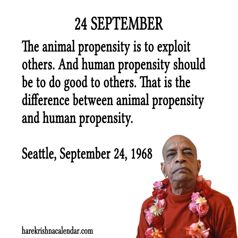 Prabhupada Quotes For The Month of September 24