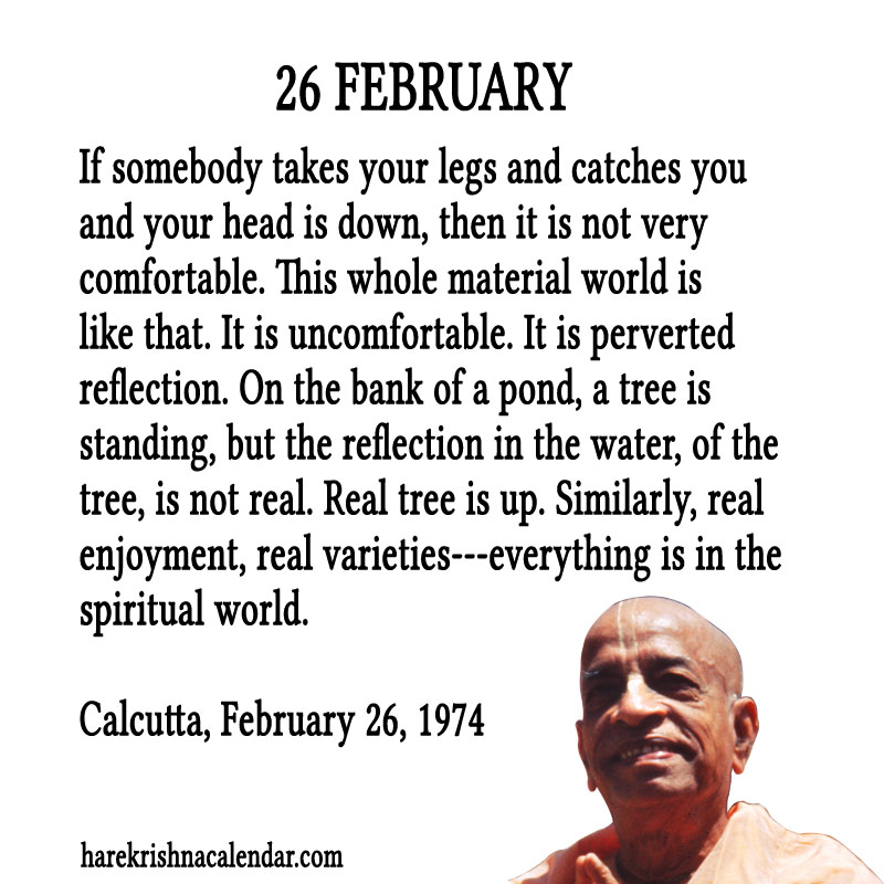 Prabhupada Quotes For The Month of Februry 26