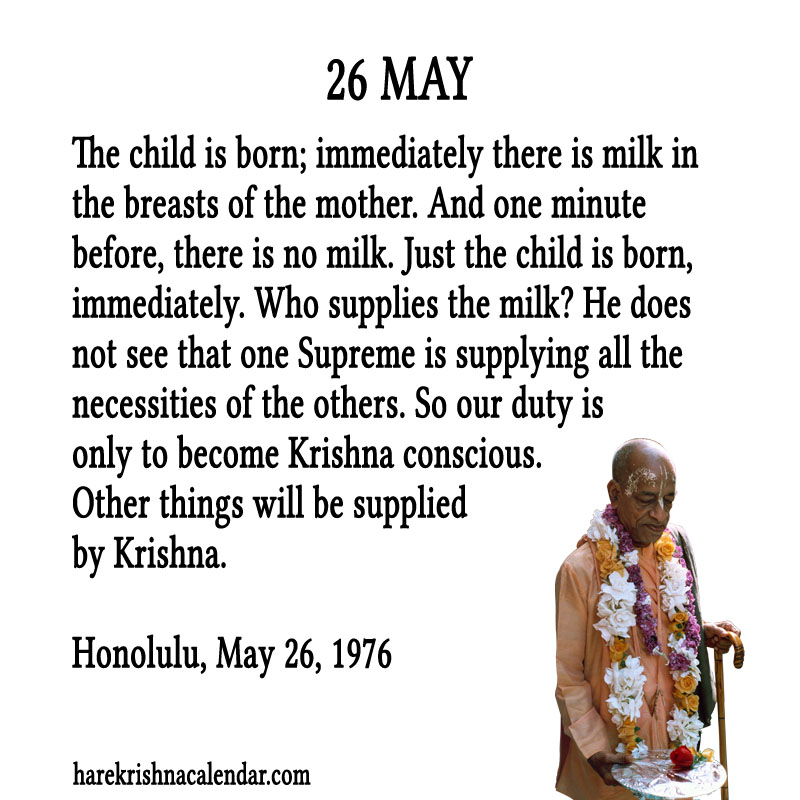 Prabhupada Quotes For The Month of May 26