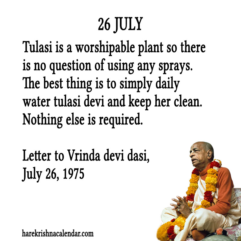 Prabhupada Quotes For The Month of July 26