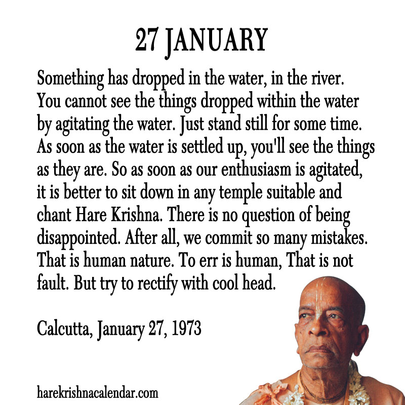 Prabhupada Quotes For The Month of January 27