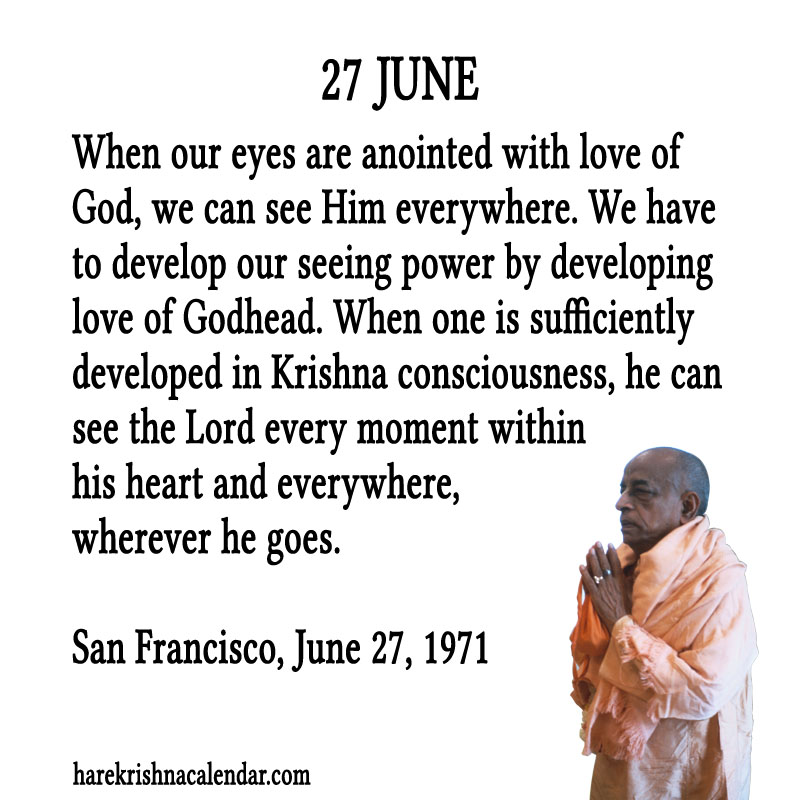 Prabhupada Quotes For The Month of June 27
