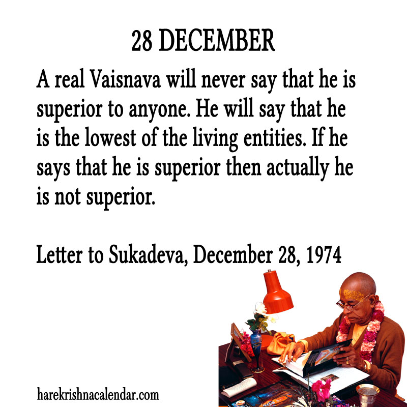 Prabhupada Quotes For The Month of December 28