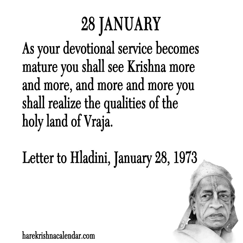 Prabhupada Quotes For The Month of January 28