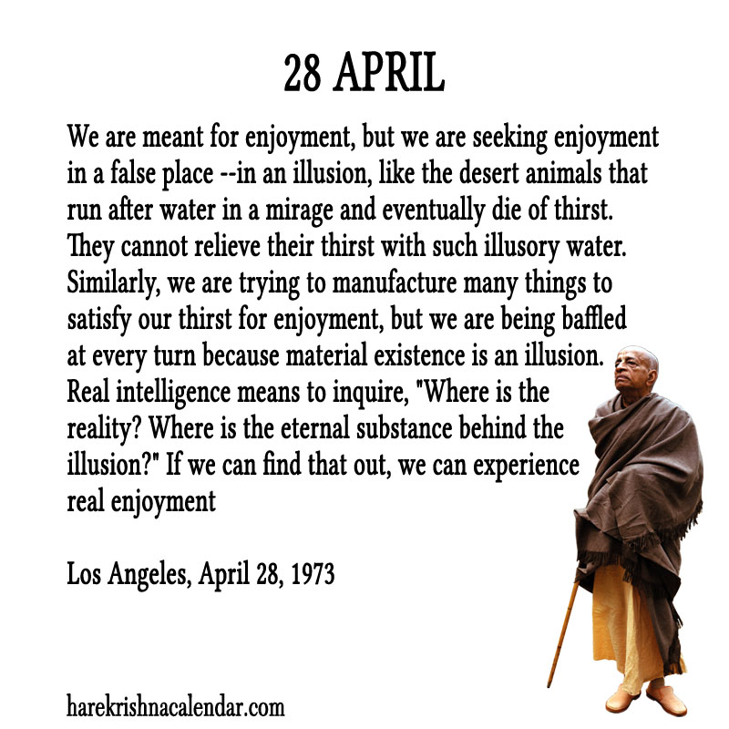 Prabhupada Quotes For The Month of April 28