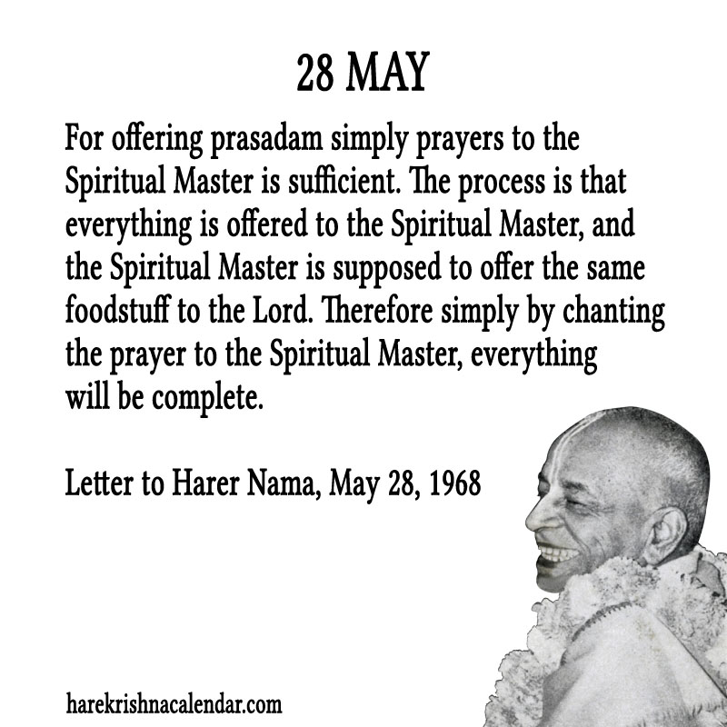 Prabhupada Quotes For The Month of May 28