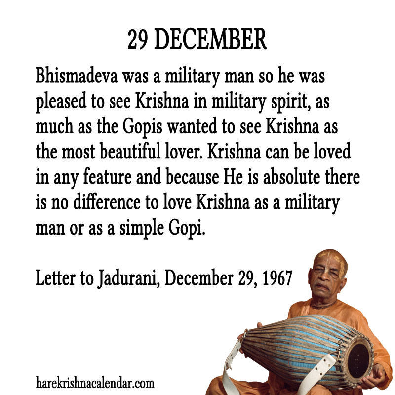 Prabhupada Quotes For The Month of December 29
