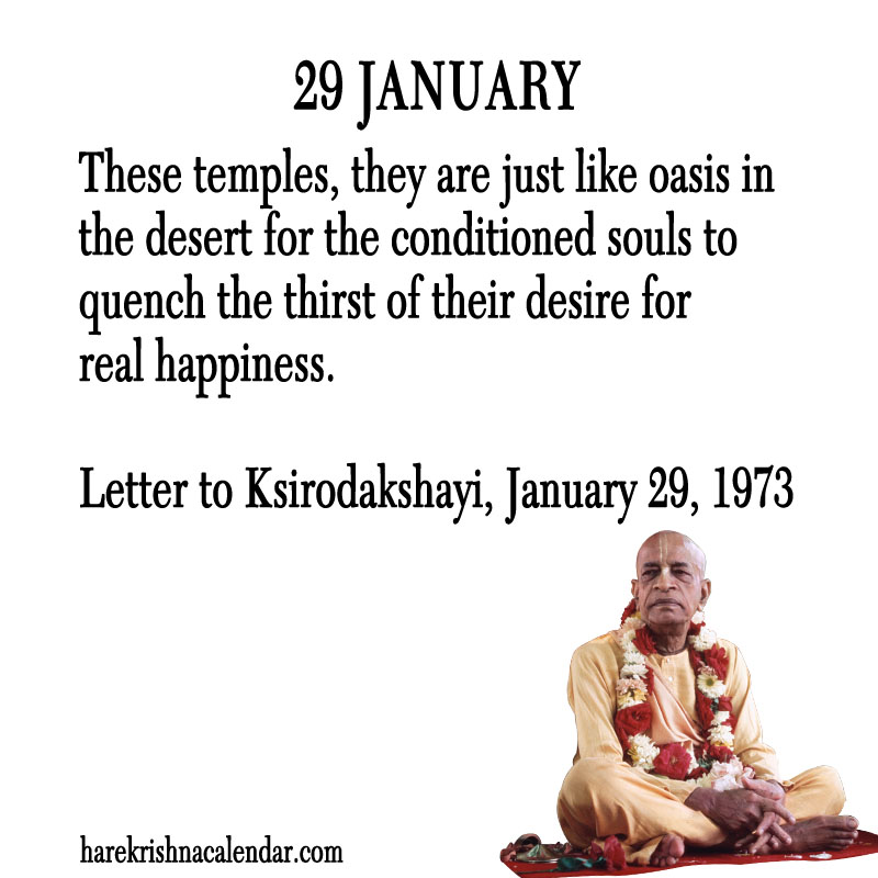 Prabhupada Quotes For The Month of January 29