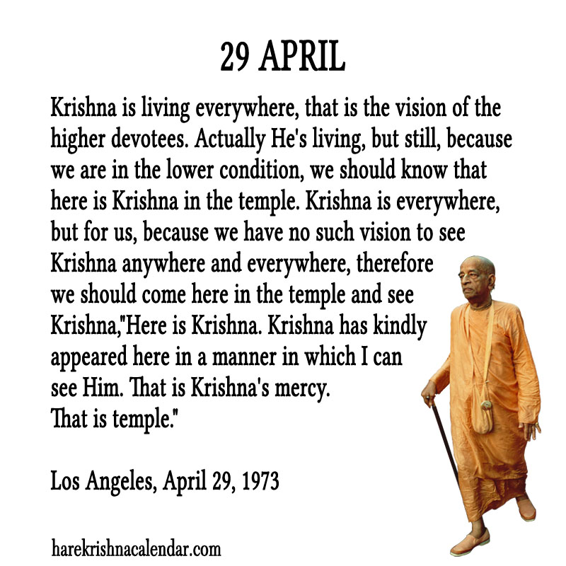 Prabhupada Quotes For The Month of April 29
