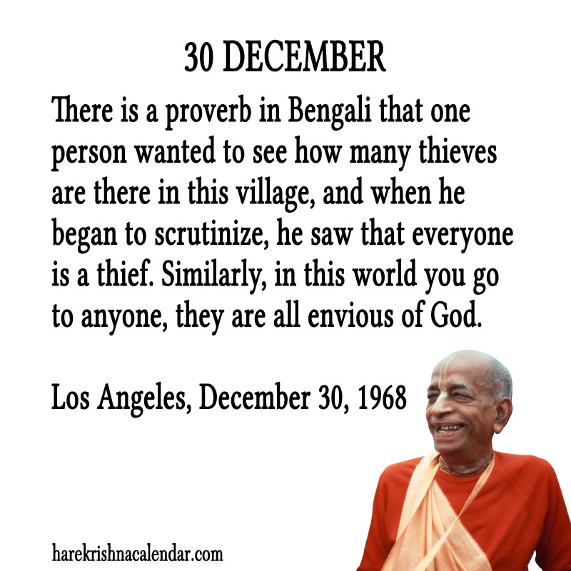 Prabhupada Quotes For The Month of December 30