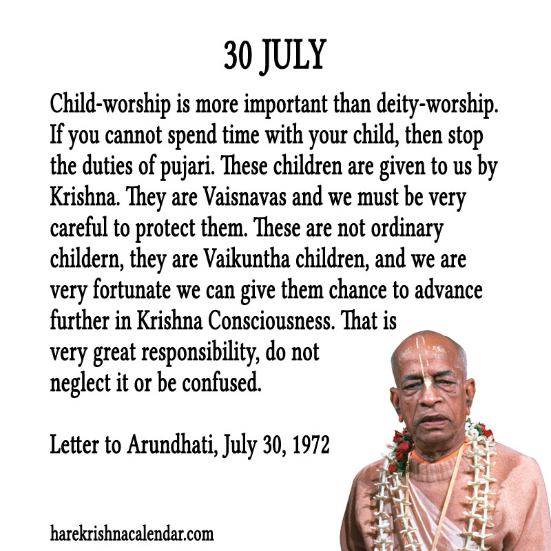 Prabhupada Quotes For The Month of July 30