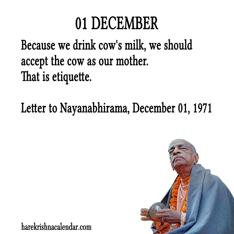 Prabhupada Quotes For The Month of December 01