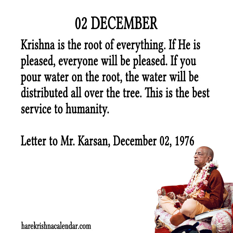Prabhupada Quotes For The Month of December 02